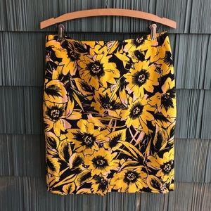 J. Crew Pencil Skirt Basketweave Floral 6